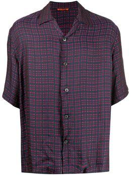 Barena клетчатая рубашка с короткими рукавами CAU2777NAVY