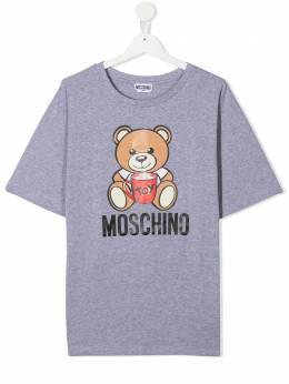 Moschino Kids футболка Teddy Bear с короткими рукавами H6M029LBA11