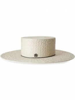 Maison Michel соломенная шляпа-федора Lana 1139001001