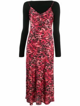 Allsaints многослойное платье с леопардовым принтом HERAWD168S