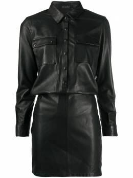 Allsaints платье-рубашка узкого кроя KADIWL019S