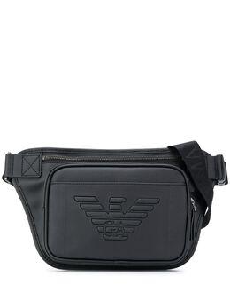 Emporio Armani поясная сумка из искусственной кожи с логотипом Y4O255YFE6J