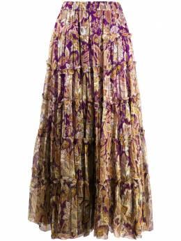 Zimmermann ярусная юбка Ladybeetle с цветочным принтом 9032SLAD