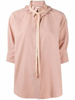 See By Chloe рубашка с плиссированным воротником CHS20AHT0402426D