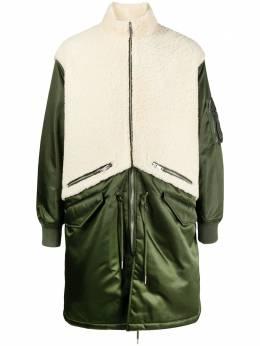 Givenchy пальто оверсайз со вставкой из овчины BM00K860UC