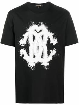 Roberto Cavalli футболка с графичным принтом HNT614JD060