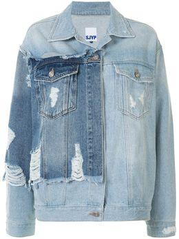 Sjyp джинсовая куртка с эффектом потертости и вставками PW2A7NJC039W