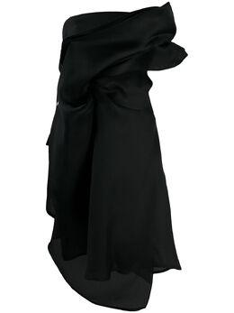 Nina Ricci платье миди с драпировкой 20ACRO013SE1322U9000