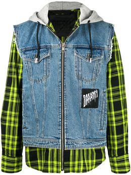 Diesel джинсовая куртка с капюшоном A002090KAYD