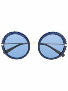 Dolce&Gabbana Eyewear солнцезащитные очки с эффектом плиссировки DG6130