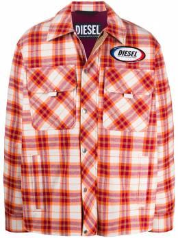 Diesel куртка-рубашка с нашивкой-логотипом A006350CAZY