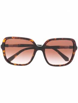 Bvlgari солнцезащитные очки в массивной оправе BV822850413