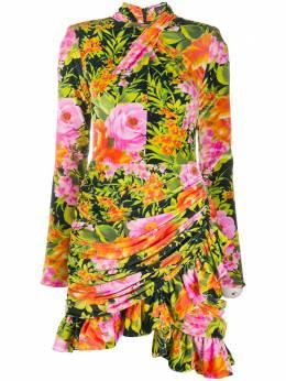Richard Quinn платье мини из джерси с цветочным принтом RQAW20