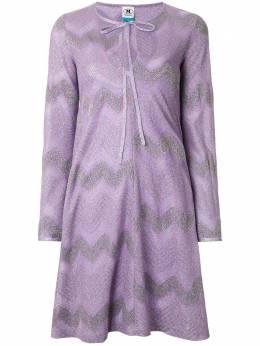 M Missoni расклешенное платье с длинными рукавами 2DG00280