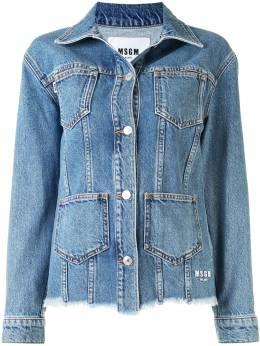 MSGM джинсовая куртка с карманами 2941MDH51L207730