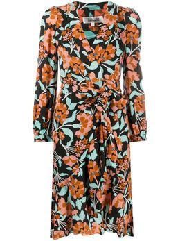 Dvf Diane Von Furstenberg платье миди с цветочным принтом 14672DVF