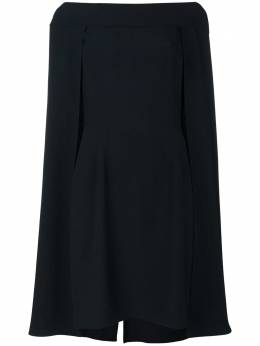 Alberta Ferretti многослойное платье-кейп A04436618