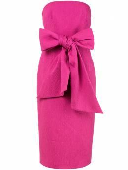 Rebecca Vallance платье миди Andie без бретелей с завязками 20031786