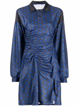 Emilio Pucci платье с оборками и принтом из коллаборации с Koche 0UJG950K734