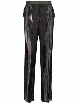 Y / Project брюки строгого кроя со вставками из тюля PANT60S19