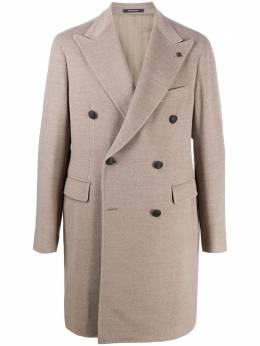 Tagliatore двубортное пальто с заостренными лацканами CSBL10B19UIC027