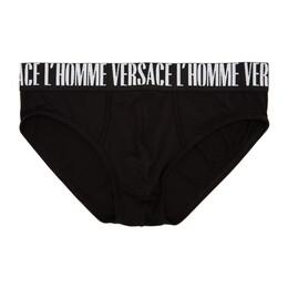 Versace Underwear Black Versace LHomme Briefs AUU22000 AV00198