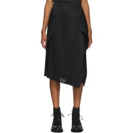 Pleats Please Issey Miyake Black Motion Mid-Length Skirt PP08JG784