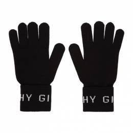 Givenchy Black and White Wool Gloves BPZ00Q P06J