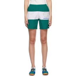 Noah Nyc Green and White adidas Edition Stripe Shorts GE1259