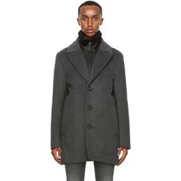 Mackage Grey Wool Dillon Coat DILLON