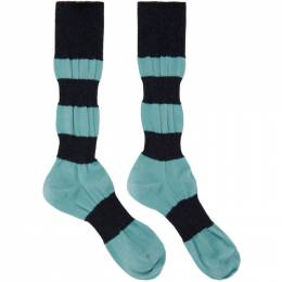 Homme Plisse Issey Miyake Blue Panelled Socks HP09AI526