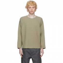 Homme Plisse Issey Miyake Beige Knit Rustic Sweater HP09KN002