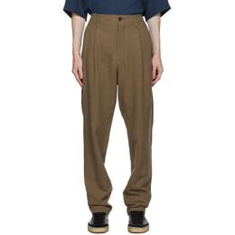 Issey Miyake Men Beige Panama Trousers ME08FF040