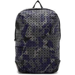Bao Bao Issey Miyake Blue and Grey Camouflage Kuro Liner Backpack BB09AG113