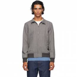 A.P.C. Black and Grey Houndstooth Laurel Jacket PSAEG-H02623