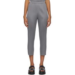 Pleats Please Issey Miyake Grey Basics Trousers PP08JF111