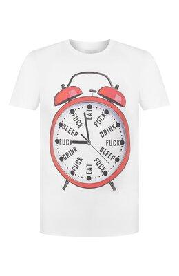Хлопковая футболка Bisibiglio MAN ALARM/HEAVY