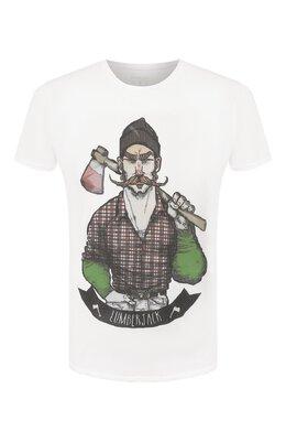 Хлопковая футболка Bisibiglio LUMBERJACK