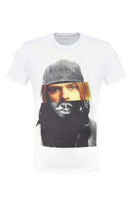Хлопковая футболка Bisibiglio D0UB FACE C0UBAIN/PESANTE