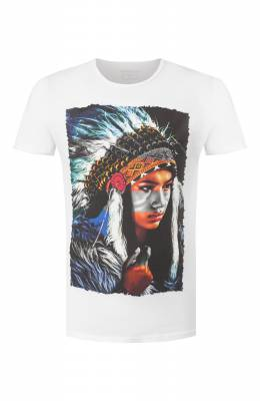 Хлопковая футболка Bisibiglio INDIAN ART