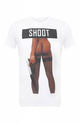 Хлопковая футболка Bisibiglio SH00T W0MRIFLE/PESANTE