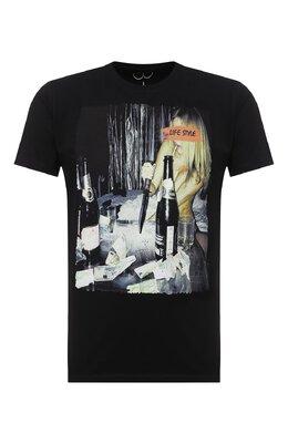 Хлопковая футболка Bisibiglio LIFE STR0NG/PESANTE