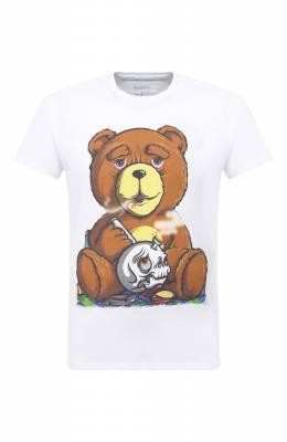 Хлопковая футболка Bisibiglio TEDDY SM0KE/PESANTE