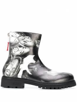424 ботинки в стиле милитари с принтом 424PFW20034