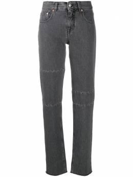 Mm6 Maison Margiela джинсы скинни с завышенной талией и вставками S32LA0182S30652