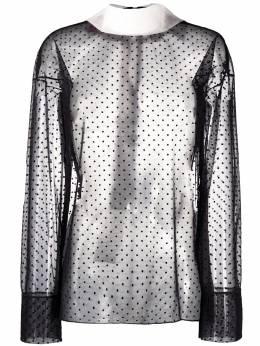 Viktor & Rolf блузка Fancy Bow в горох 77ASOFTTULLEBLACK