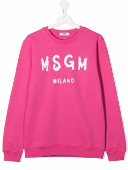MSGM Kids толстовка с логотипом 025045