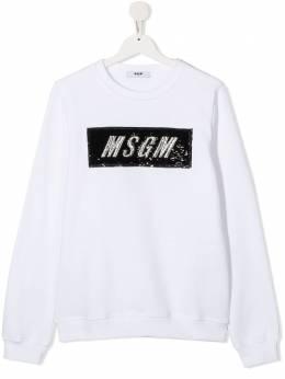 MSGM Kids толстовка с логотипом из пайеток 025155