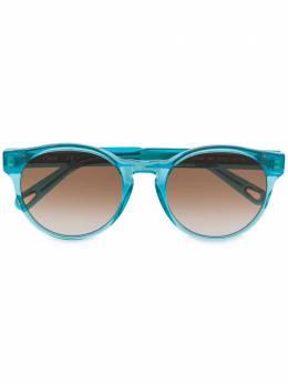 Chloe Eyewear солнцезащитные очки в круглой оправе с затемненными линзами CE753S