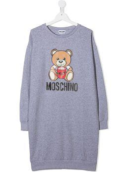 Moschino Kids толстовка свободного кроя с логотипом HIV064LDA1460901T